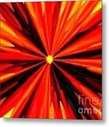 Eruption In Red Metal Print
