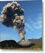 Eruption Of Sakurajima Volcano Metal Print