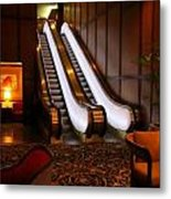 Escalator In The Brown Palace Metal Print