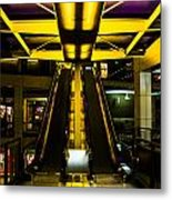 Escalator Lights Metal Print