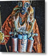 Escape Suit Russian Submarine Sailor Metal Print