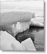 Eskimo Boys Ice Fishing Barrow Alaska  July 1969 Metal Print