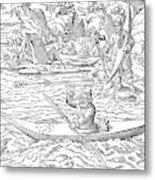 Eskimos Hunting, 1580 Metal Print
