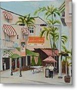 Espanola Way South Beach Florida Metal Print