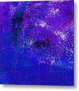 Essay Star Blue Purple Metal Print