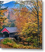 Essence Of New England - New Hampshire Autumn Classic Metal Print