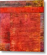 Essence Of Red Metal Print by Michelle Calkins