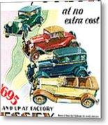Essex Challenger Vintage Poster Metal Print