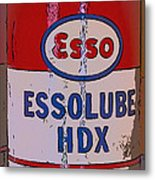 Esso Can Metal Print