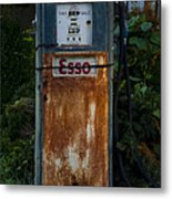 Esso Gas Pump Metal Print