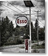 Esso Sign And Pump Metal Print