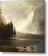 Estes Park Colorado Whytes Lake Metal Print by Albert Bierstadt