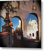 Esther Henderson Photo Back North Entrance  Of San Xavier Mission Tucson Arizona 1957-2013  Metal Print