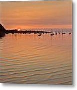 Estruary Harbour Sunset Metal Print