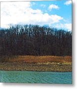 Estuary In Early Spring Metal Print