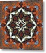 Estuary Sunrise Mandala Metal Print