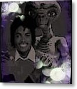 Et And Michael Jackson Photo  Metal Print
