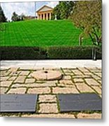 Eternal Flame At Kennedy Resting Place Metal Print