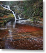 Ethereal Autumn Square Metal Print