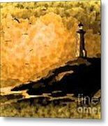 Ethereal Lighthouse Metal Print
