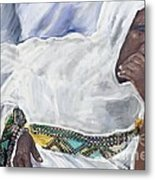 Ethiopian Orthodox Jewish Woman Metal Print