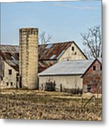 Ethridge Tennessee Amish Barn Metal Print