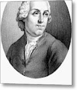 Etienne Bonnot De Condillac(1715-1780) Metal Print