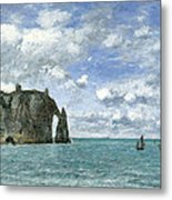 Etretat. The Cliff Of Aval Metal Print