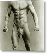 Eugen Sandow In Classical Ancient Greco Roman Pose Metal Print by American Photographer
