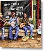 Eureka Springs Novelty Shop String Quartet Metal Print