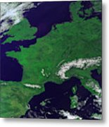 Europe From Above Metal Print