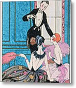 'europe' Illustration For A Calendar For 1921 Metal Print by Georges Barbier