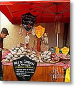 A European Butcher Metal Print