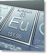 Europium Chemical Element Metal Print
