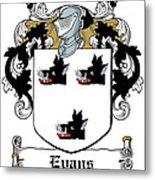 Evans Coat Of Arms Irish Metal Print