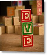 Eve - Alphabet Blocks Metal Print