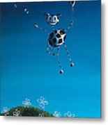 Even Cows Have Strange Dreams By Shawna Erback Metal Print by Shawna Erback