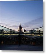 Even The Clouds Aligned With St Paul's Cathedral And The Millennium Bridge - London Metal Print