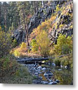 Evening Approaches Spring Creek Metal Print