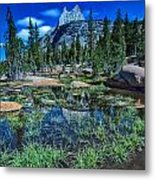Evening At Cathedral Lakes Metal Print