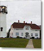 Evening At Chatham  Lighthouse Metal Print