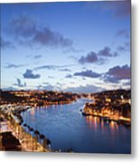 Evening At Douro River In Portugal Metal Print