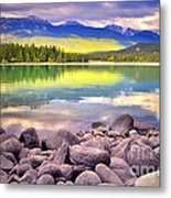 Evening At Lake Annette Metal Print