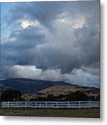 Evening Clouds Over Ashland Farm Country Metal Print