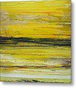 Evening Druridge Bay Low Tide Rhythms And  Textures Metal Print by Mike   Bell