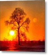 Evening Ember Sunset Metal Print