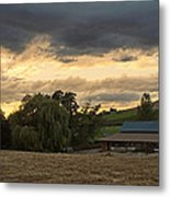 Evening Farm Scene Near Ashland Metal Print