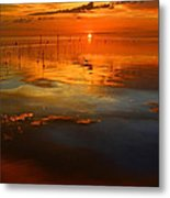 Evening Fishing Metal Print