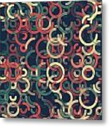 Evening Geometric Circle Segment Pattern Metal Print