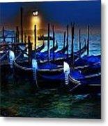 Evening Gondola Metal Print